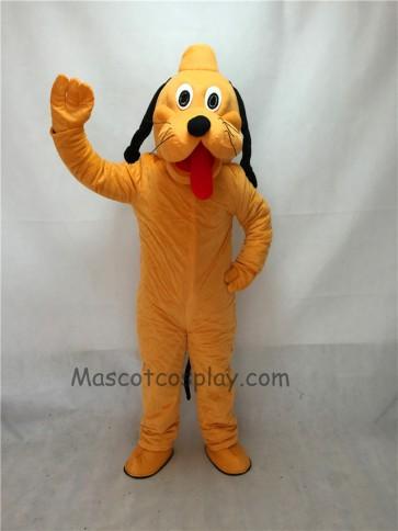 Cute Orange Pluto Dog Mascot Adult Costume
