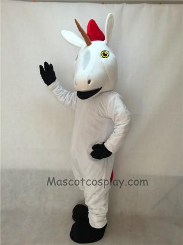 Cute New White Unicorn Mascot Costume