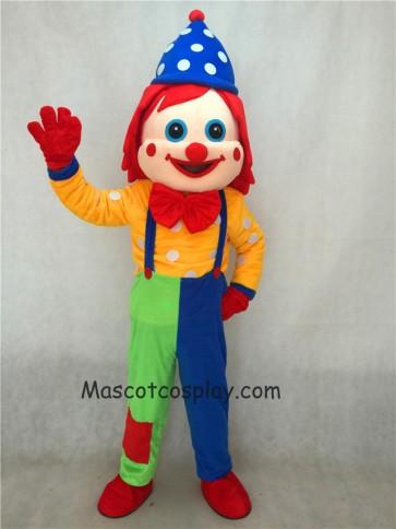 Blue Hat Clown Adult Funny Mascot Costume
