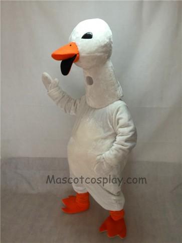 Cute White Goose Mascot Costume
