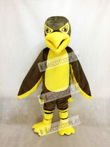 Brown and Yellow Hawk / Falcon Mascot Costume