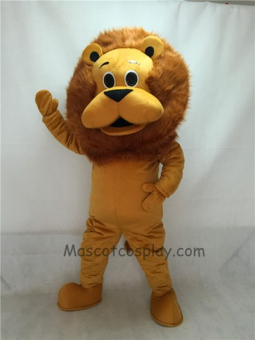 New King Lion Mascot Costume with Light Brown Mane