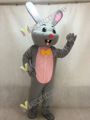 Easter Grey Bunny Gray Rabbit Hare Mascot Costume