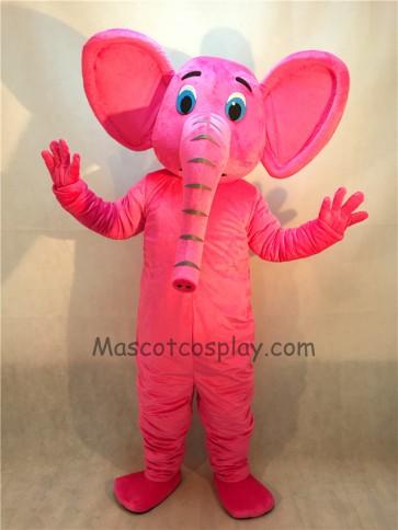 New Pink Elephant Mascot Costume