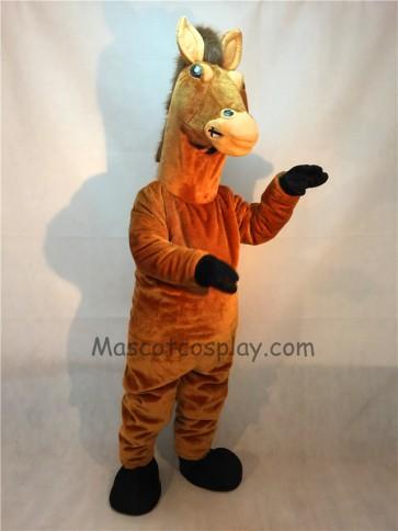 Brown Stallion Horse Mascot Costume