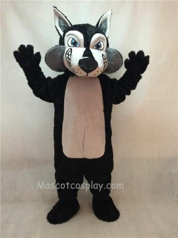 Black and Grey Wolfey Wolf Mascot Costume