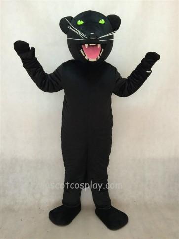 Black Pantera Panther Mascot Costume with Green Eyes
