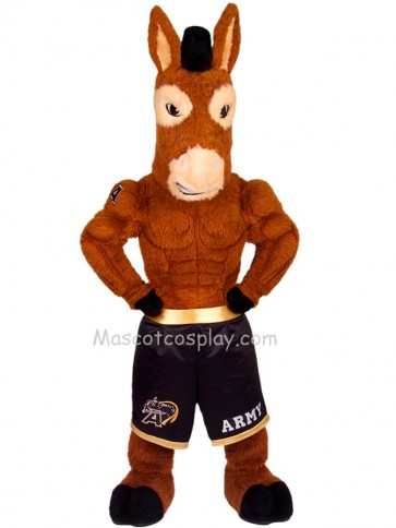 Black Jack Mule Mascot Character Costume Fancy Dress Outfit