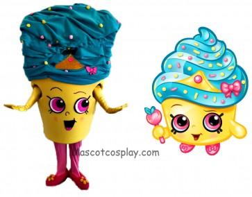 Shopkins Cupcake Queen Girls Mascot Costume
