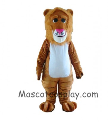 Brown Lion Mascot Costume with Long Mane