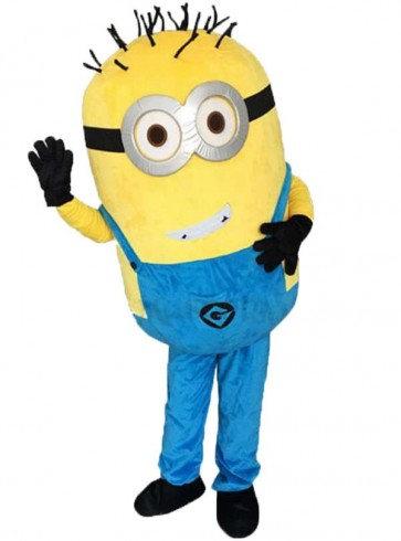 Lovely Grinning Despicable Me Minions Mascot Costume