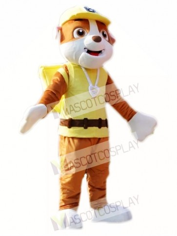 Paw Patrol Rubble Mascot Costume Yellow English Bulldog Halloween Costume