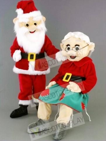 Mr. Santa Claus Father Christmas/Mrs. Santa Claus Mascot Costumes People
