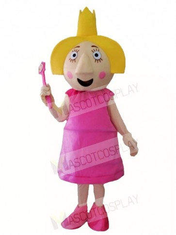 Ben & Holly's Little Kingdom Holly Thistle Pink Fairy Mascot Costumes