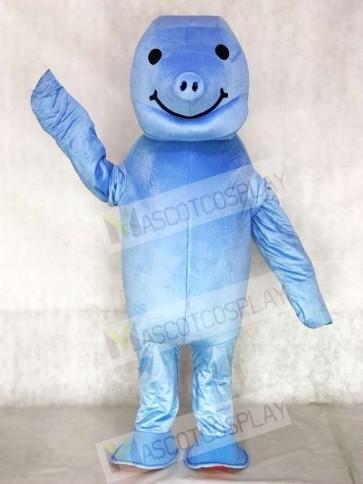 Cute Zoo Blue Manatee Mascot Costumes Animal