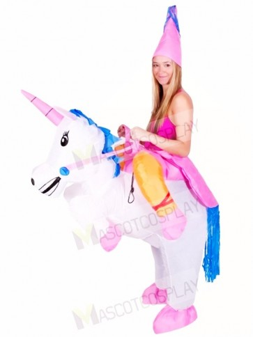 Carry Me Ride on Unicorn Inflatable Halloween Xmas Costumes for Adults