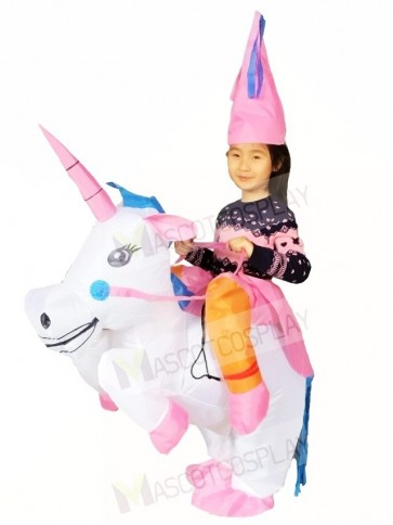 Carry Me Ride on Unicorn Inflatable Halloween Xmas Costumes for Kids
