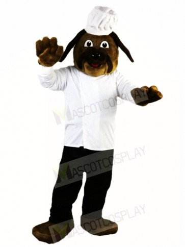 Brown Dog Chef Cook Mascot Costumes Animal