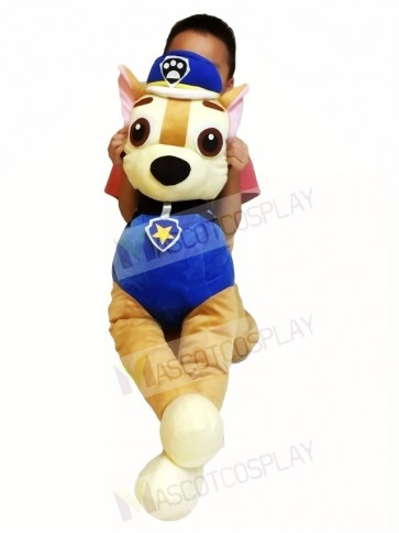 Piggyback Paw Patrol Chase Carry Me Ride on German Shepherd Dog Mascot Costumes Christmas Xmas
