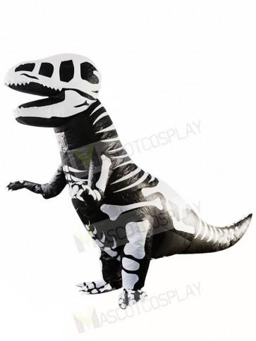 Skeleton T-REX Skull Dinosaur Inflatable Halloween Christmas Costumes for Adults