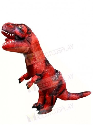 Red Tyrannosaurus T-REX Dinosaur Inflatable Halloween Christmas Costumes for Adults