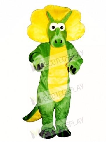 Green Triceratops Mascot Costume