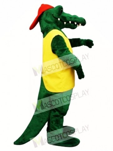 Tuff Gator with Shirt & Hat Mascot Costume