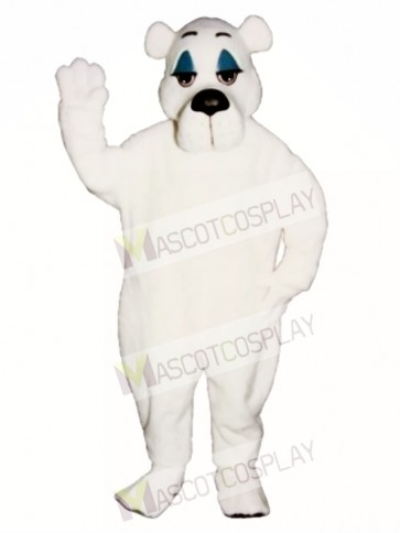 Comic Polar Bear Christmas Mascot Costume