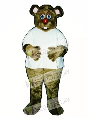 Cute Dr. Killbear with Shirt Mascot Costume