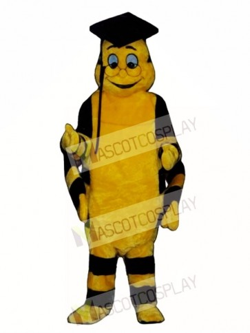 Educated Worm Mascot Costume