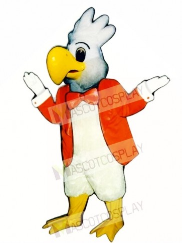 Cute Cockatoo with Jacket Mascot Costume