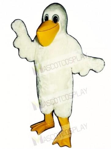 Cute Cartoon Pelican Bird Mascot Costume