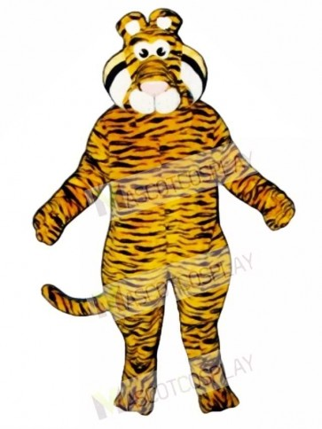 Cute Tyrone Tiger Mascot Costume