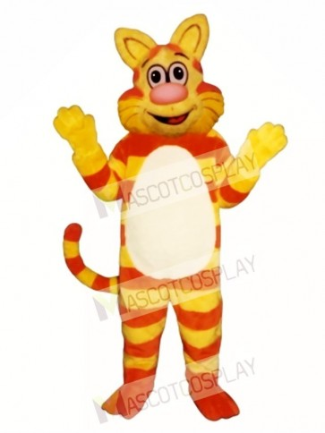 Cute Tabby Cat Mascot Costume