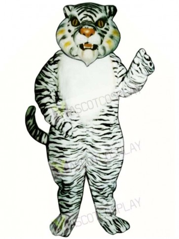 Cute White Tiger Mascot Costume
