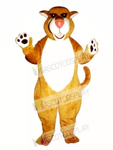 Cute Saber Tooth Cat Mascot Costume