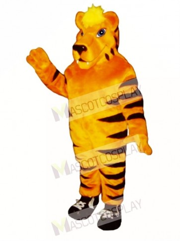Cute Tiger with Sneakers Mascot Costume