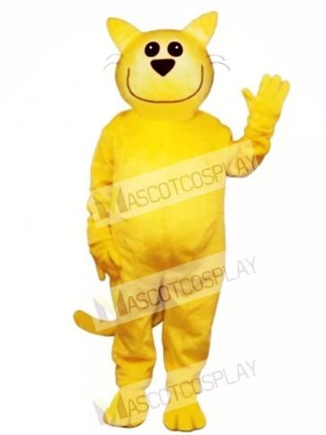 Cute Smug Cat Mascot Costume