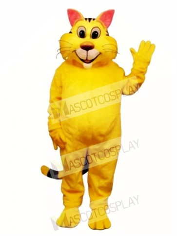 Cute Big Yeller Cat Mascot Costume