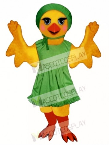 Cute Chickie Chick with Apron & Hat Mascot Costume