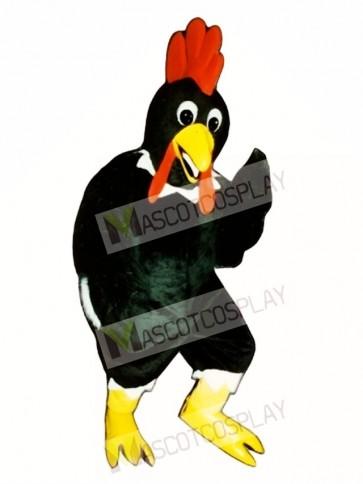 Cute Black Rooster Mascot Costume
