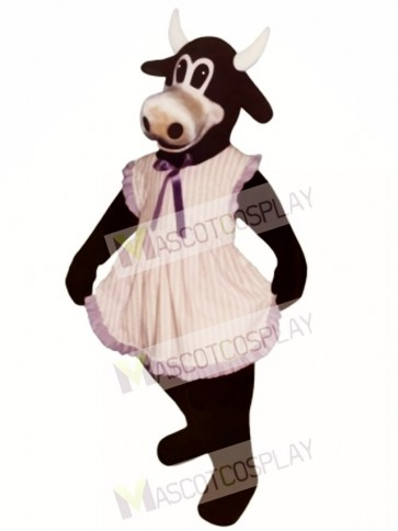 Ms.Buttercup Cattle with Apron Mascot Costume