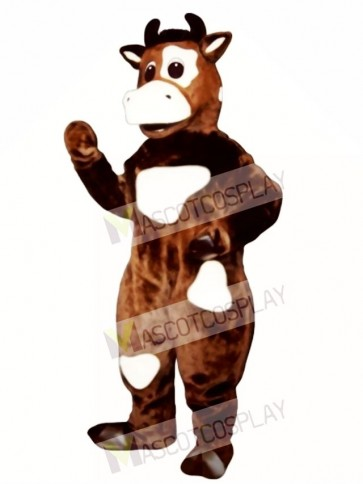 Brown Cow Mascot Costume