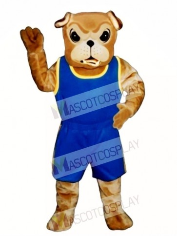 Cute Bulldog with Jogging Suit Mascot Costume