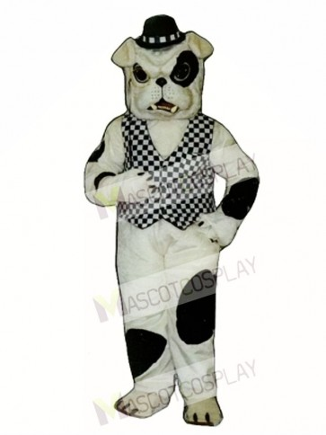 Cute English Bulldog Dog Mascot Costume