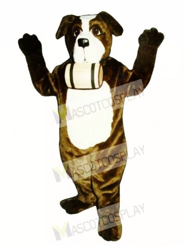 Cute St. Bernard Dog with Barrel Mascot Costume
