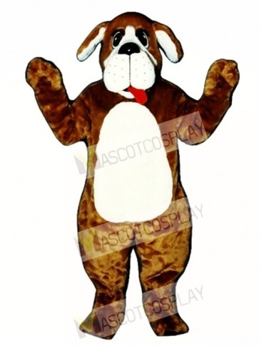 Cute Nanny Dog with Tongue Mascot Costume