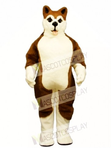 Cute Brown Husky Dog Mascot Costume