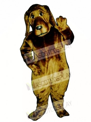Cute Bloodhound Dog Mascot Costume