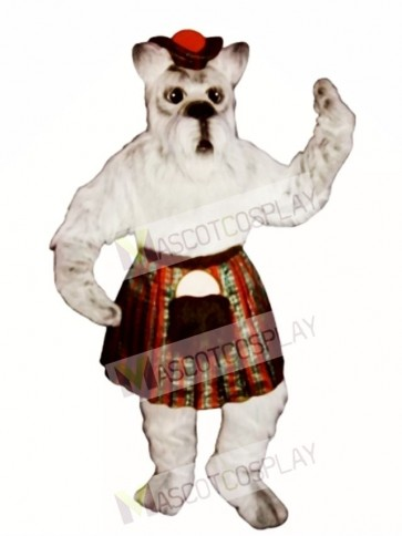 Cute Scottie Dog with Skirt & Tam Mascot Costume